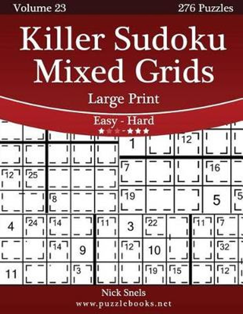 Bol | Killer Sudoku Mixed Grids Large Print - Easy To