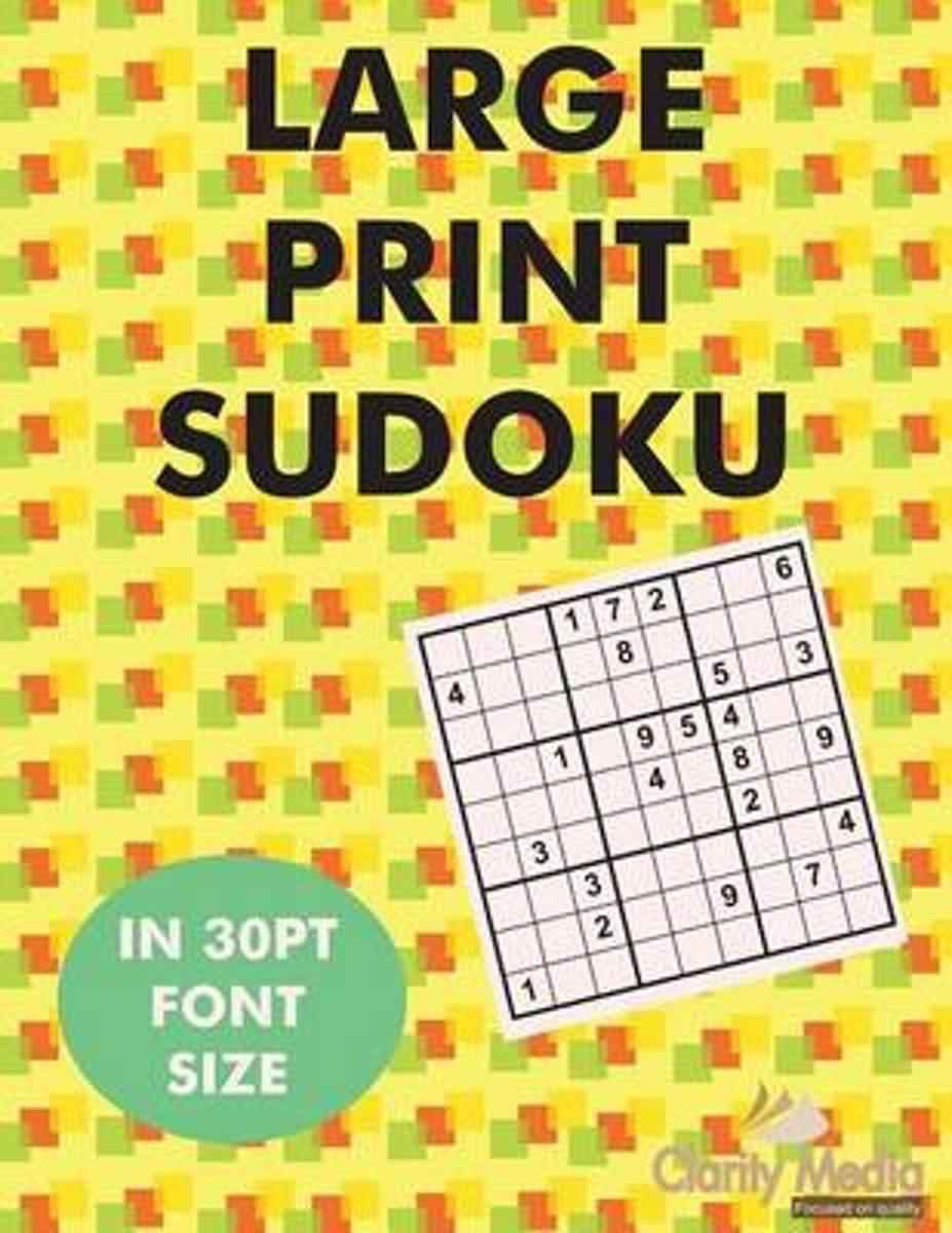 Bol | Large Print Sudoku | 9781480215696 | Clarity Media
