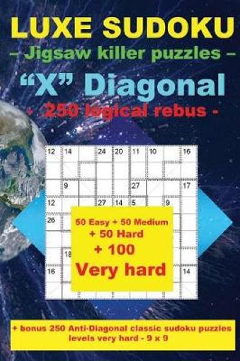 Bol | Luxe Sudoku - Jigsaw Killer Puzzles - X Diagonal