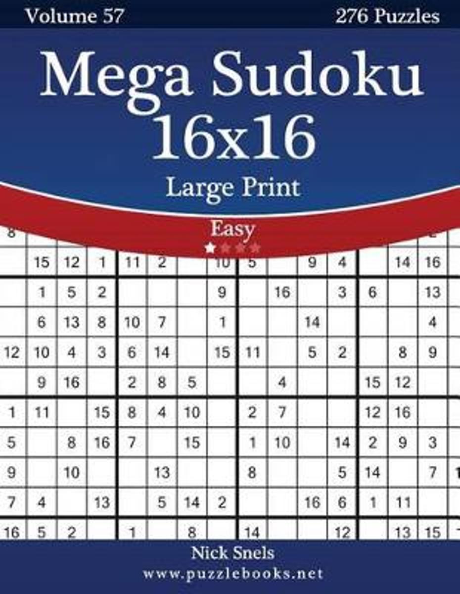 Bol   Mega Sudoku 16X16 Large Print - Easy - Volume 57