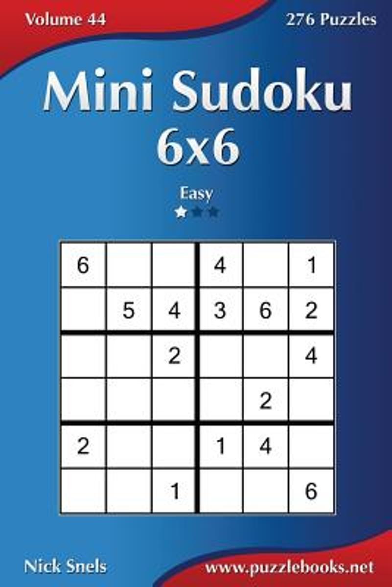 Bol | Mini Sudoku 6X6 - Easy - Volume 44 - 276 Puzzles