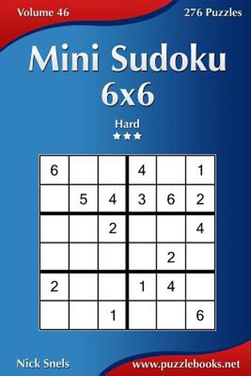 Bol | Mini Sudoku 6X6 - Hard - Volume 46 - 276 Puzzles