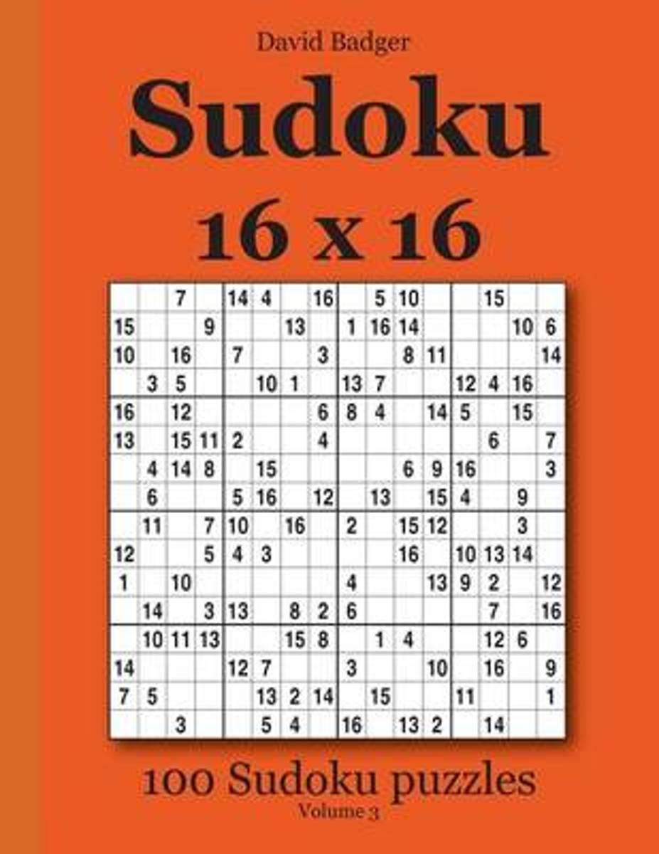 Bol | Sudoku 16 X 16, David Badger | 9783954972470 | Boeken