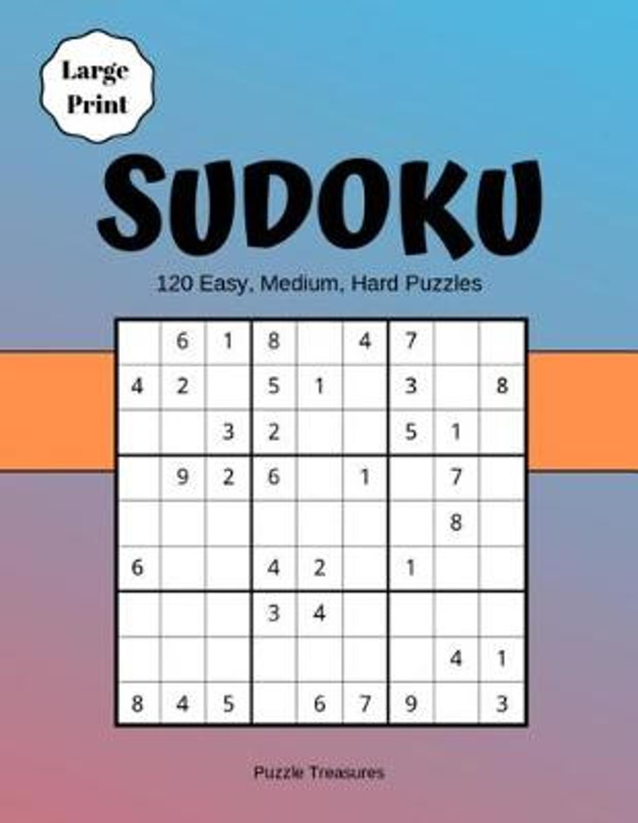 Bol | Sudoku Large Print 120 Easy, Medium And Hard