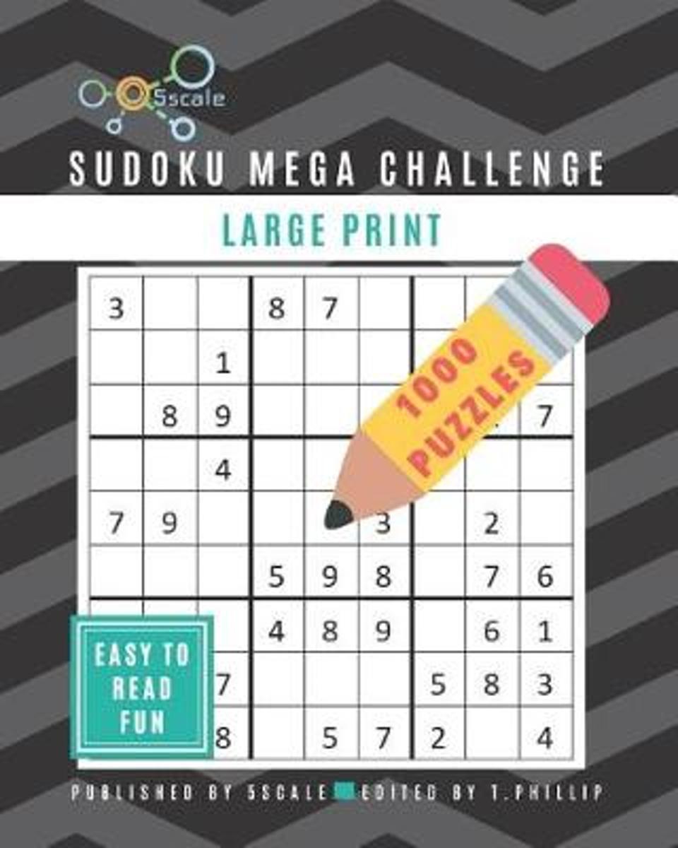 Bol | Sudoku Mega Challenge 1000 Puzzles - Large Print