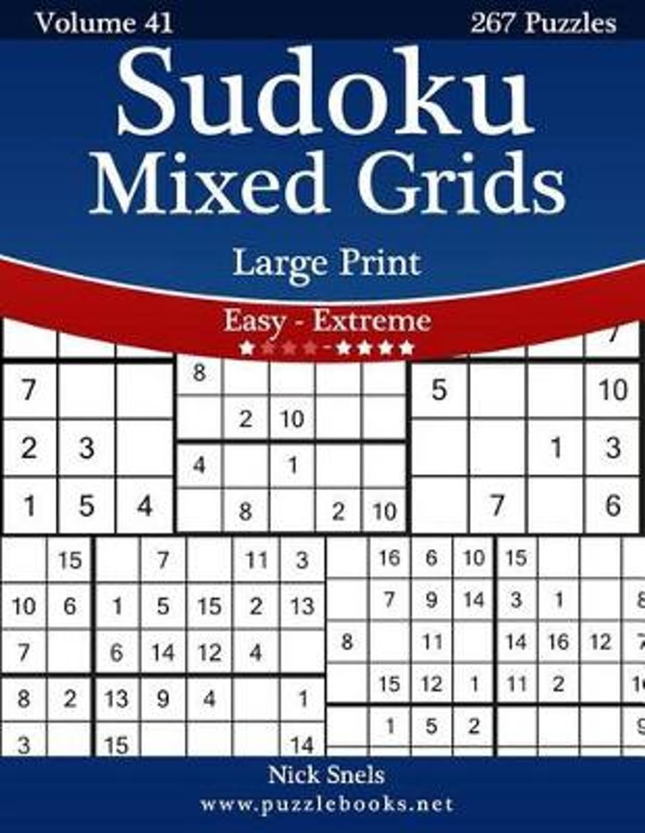 Bol | Sudoku Mixed Grids Large Print - Easy To Extreme