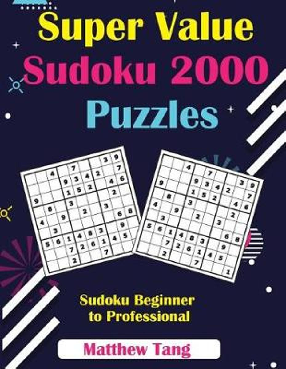 Bol | Super Value Sudoku 2000 Puzzles, Matthew Tang