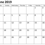 Calendar June 2019 Template Word | Calendar Template
