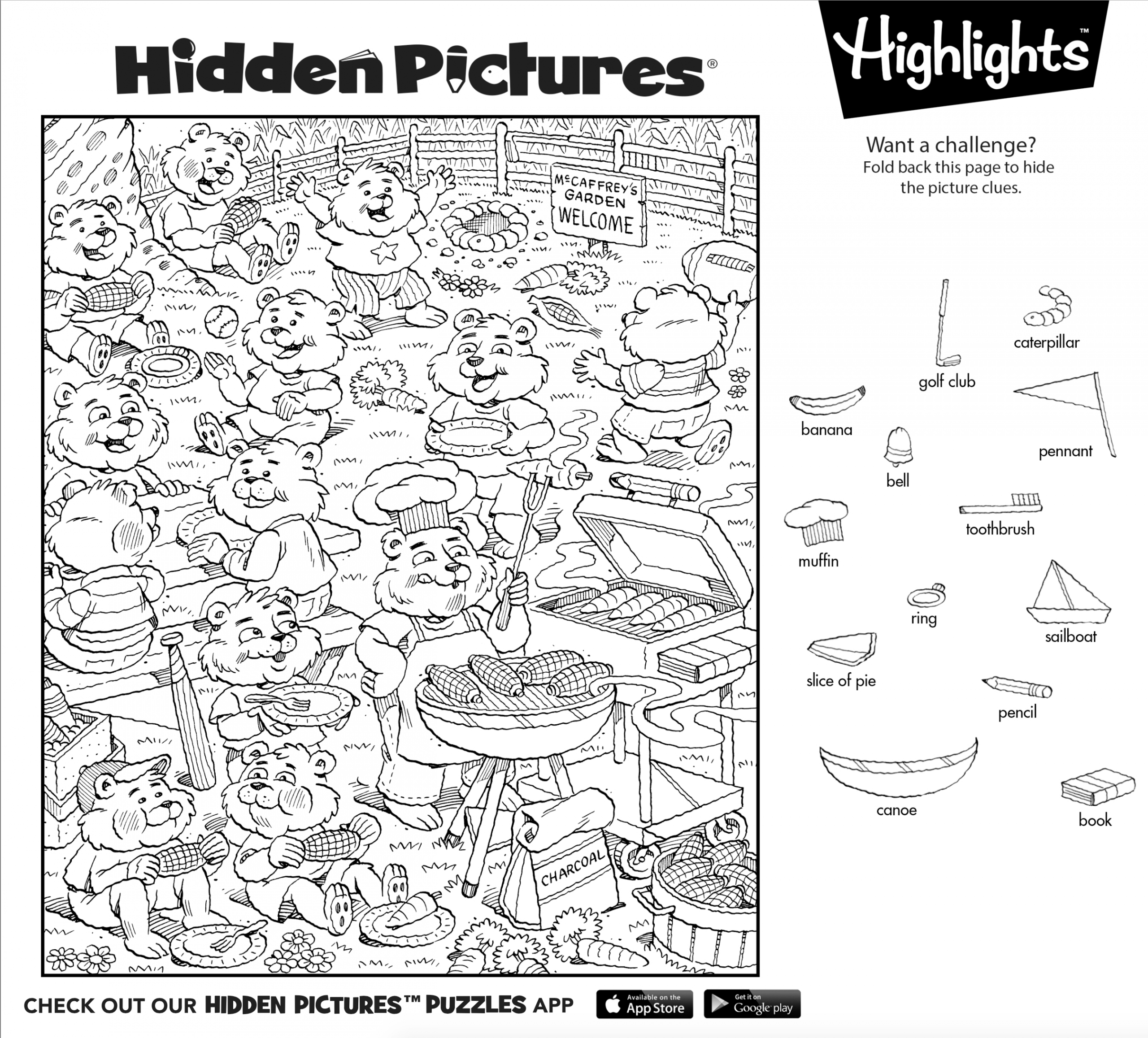 Can You Find All 13 Hidden Objects In This Hidden Pictures