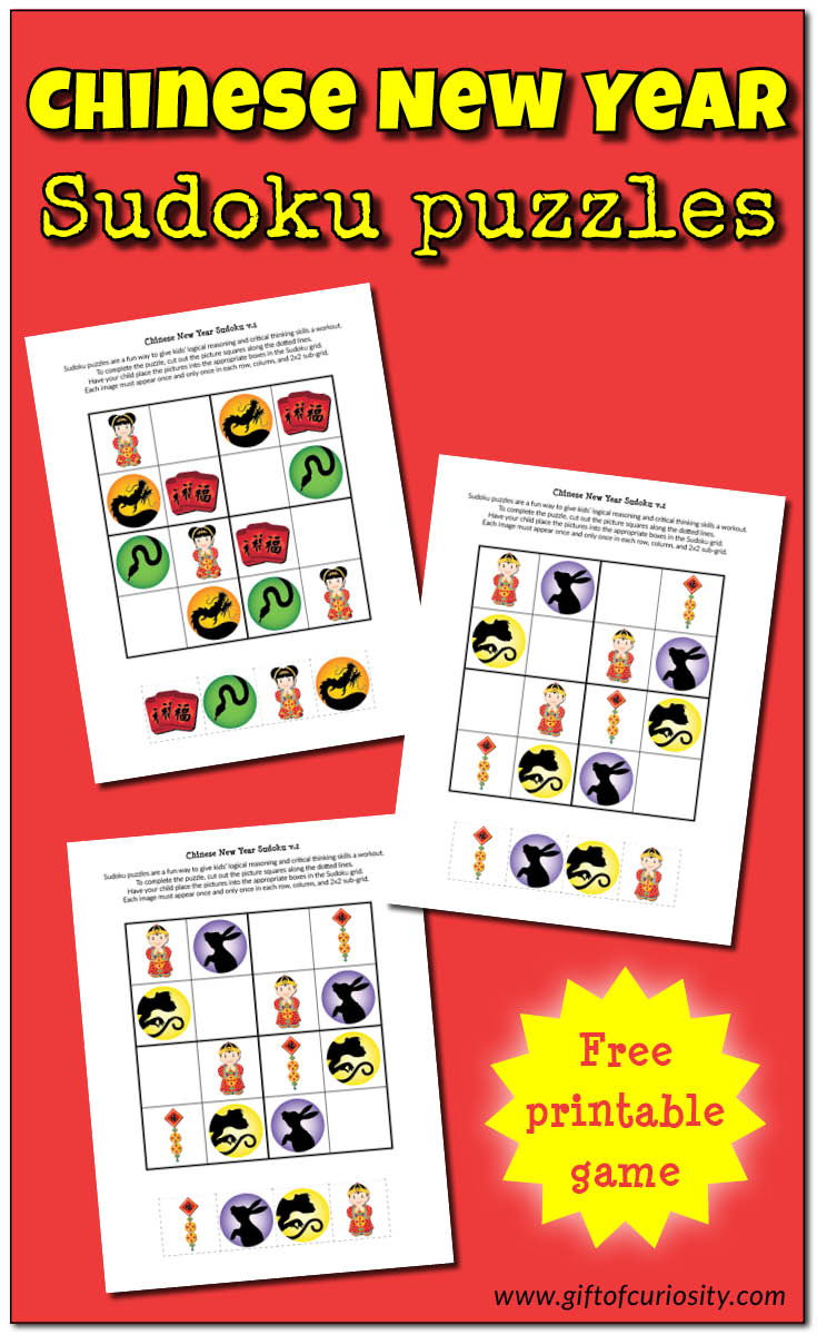 Chinese New Year Sudoku {Free Printables} - Gift Of Curiosity