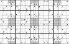 Free Printable Sudoku 16×16 Numbers