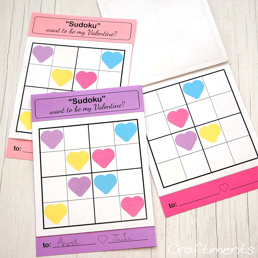 Craftiments: Sudoku Puzzle Valentine