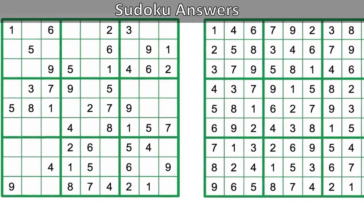 Daily Sudoku Answers - Youtube