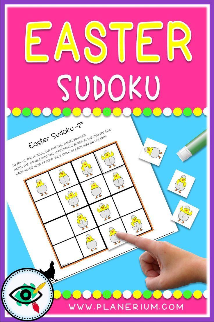 Easter – Sudoku – Easter Symbols   First Grade Games, Easter