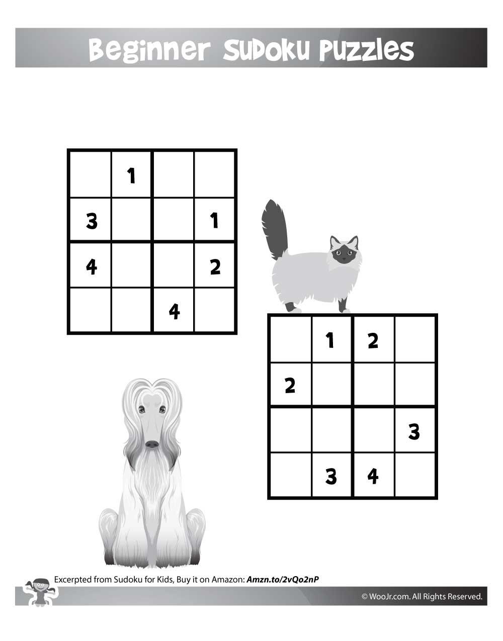 Easy Beginner Sudoku Puzzles For Kids | Woo! Jr. Kids Activities