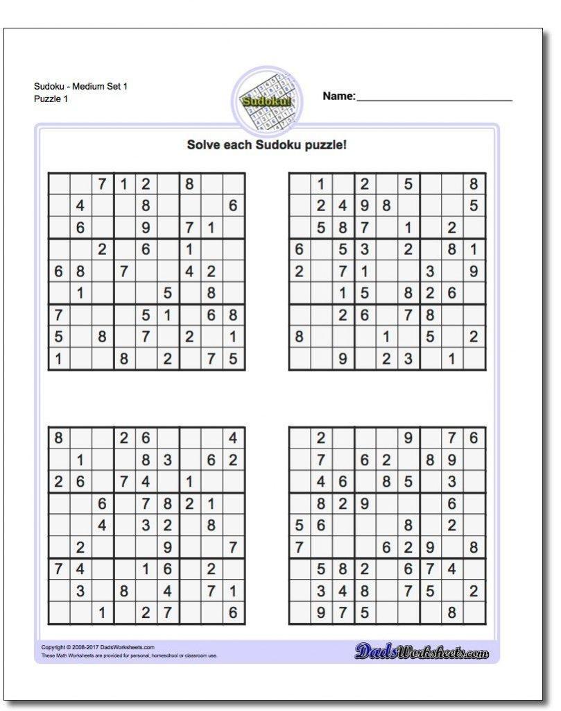 Easy Printable Sudoku - Tomope.zaribanks.co
