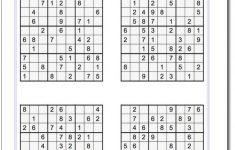 Easy Printable Sudoku – Tomope.zaribanks.co