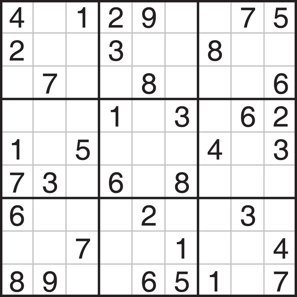 Easy Printable Sudoku - Tomope.zaribanks.co