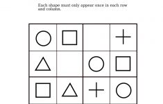 Easy Shapes Sudoku For Kindergarteners | Fun Math Worksheets