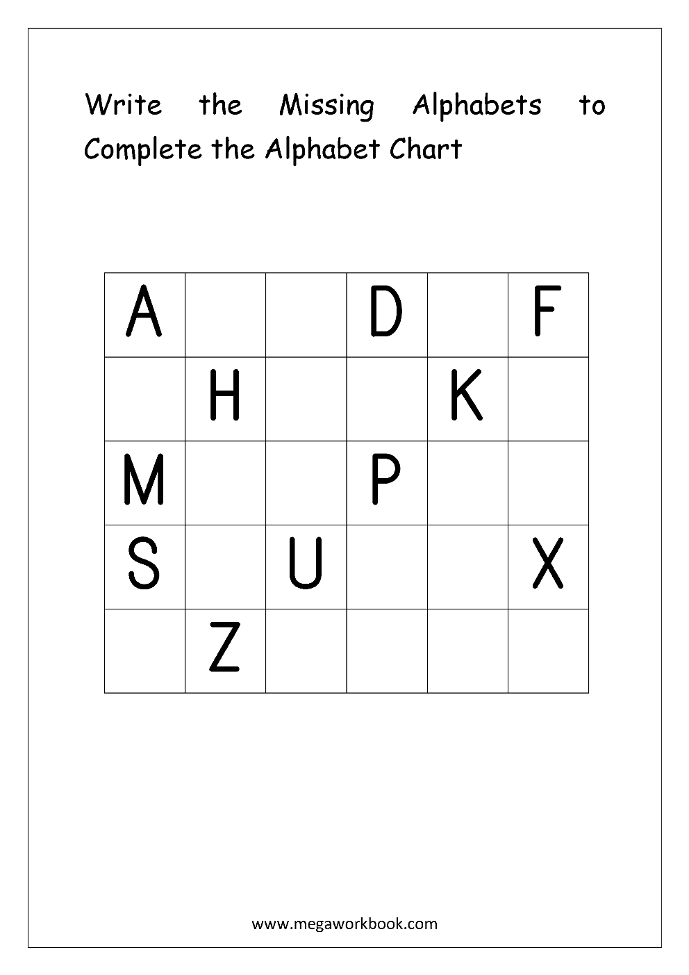 English Worksheets - Alphabetical Sequence | English