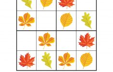 Fall Leaves Sudoku Puzzles – Gift Of Curiosity