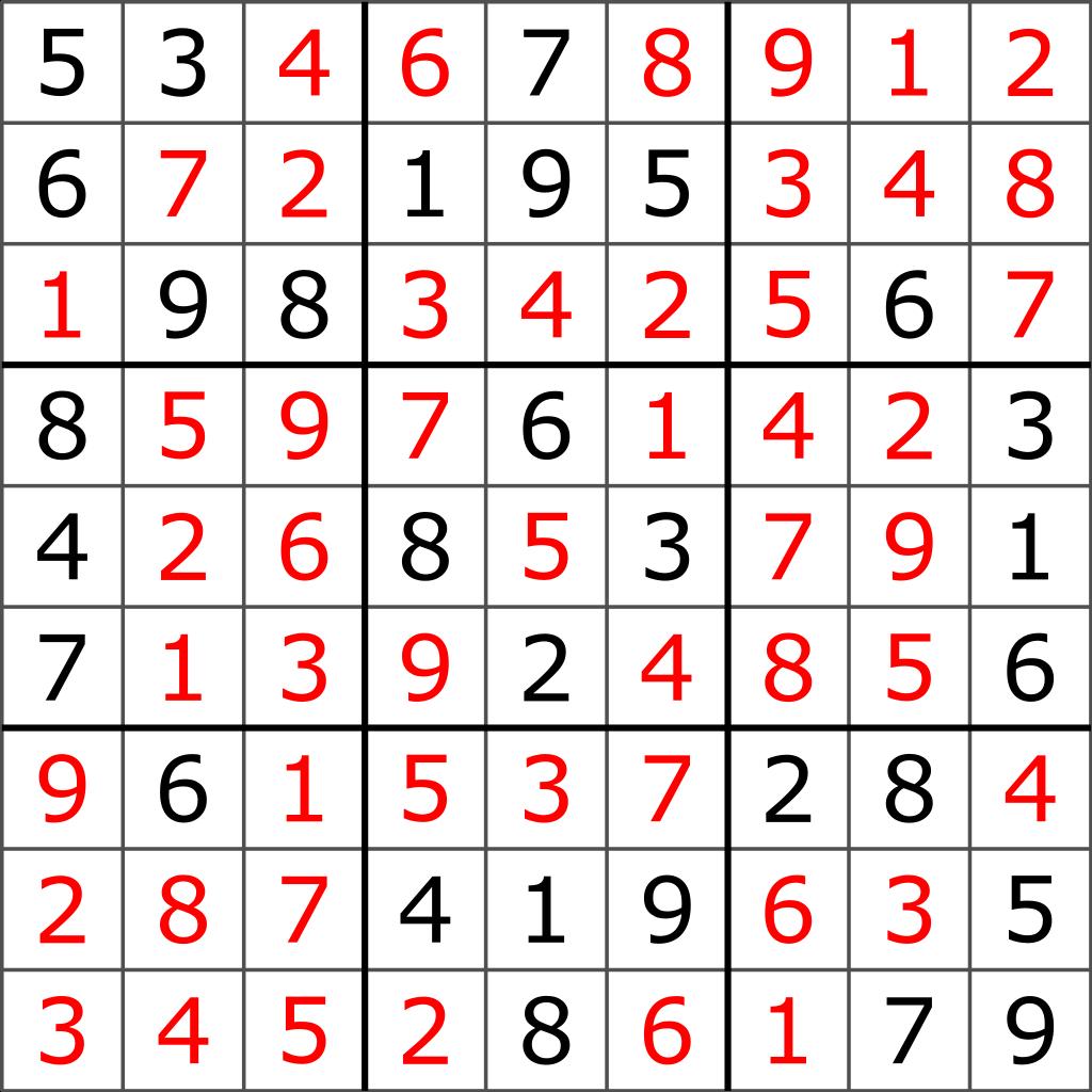 File:sudoku Puzzlel2G-20050714 Solution Standardized
