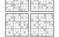 Free Very Easy Sudoku Printable