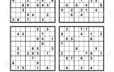 Sudoku Printables Very Easy