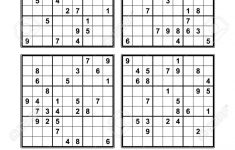 Very Easy Sudoku Printable 4 Per Page
