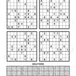 Four Sudoku Puzzles Of Comfortable (Easy, Yet Not Very Easy)..