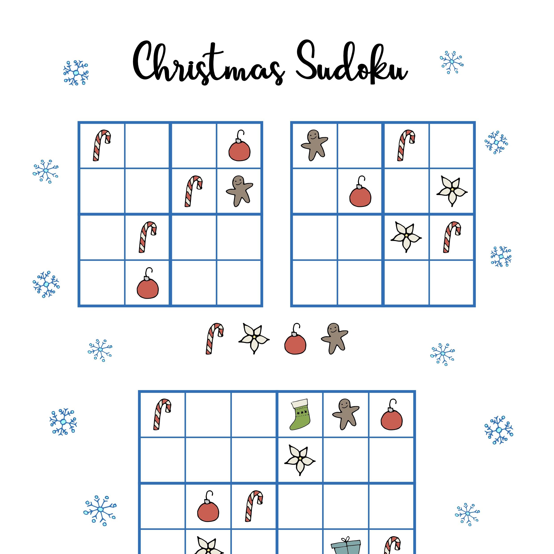 Free Christmas Printables - Sudoku - Mama Geek
