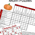 Free} Fun Thanksgiving Math Puzzles For Older Kids