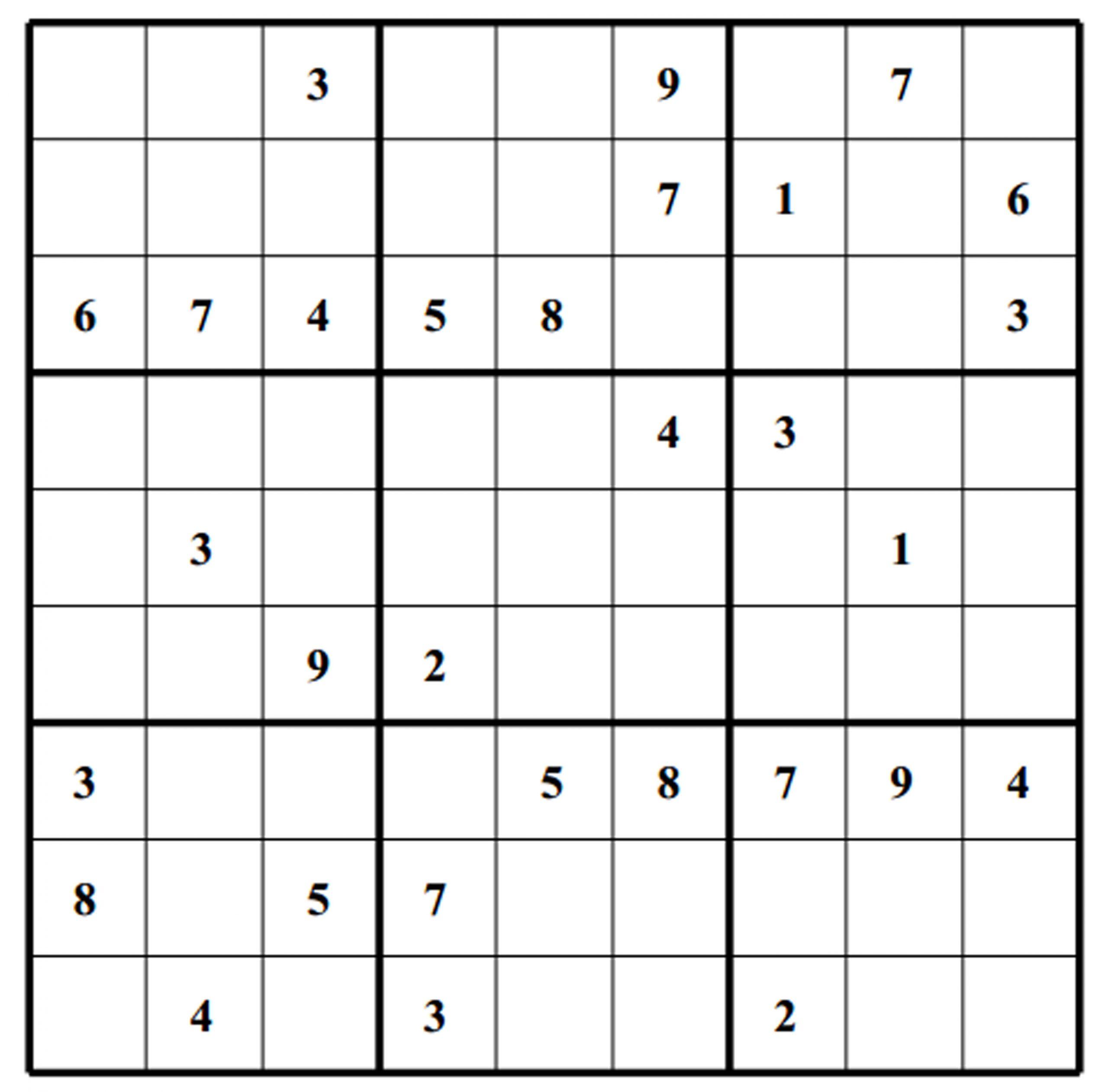Free Sudoku Puzzle: Medium 014 | Free Sudoku Puzzles