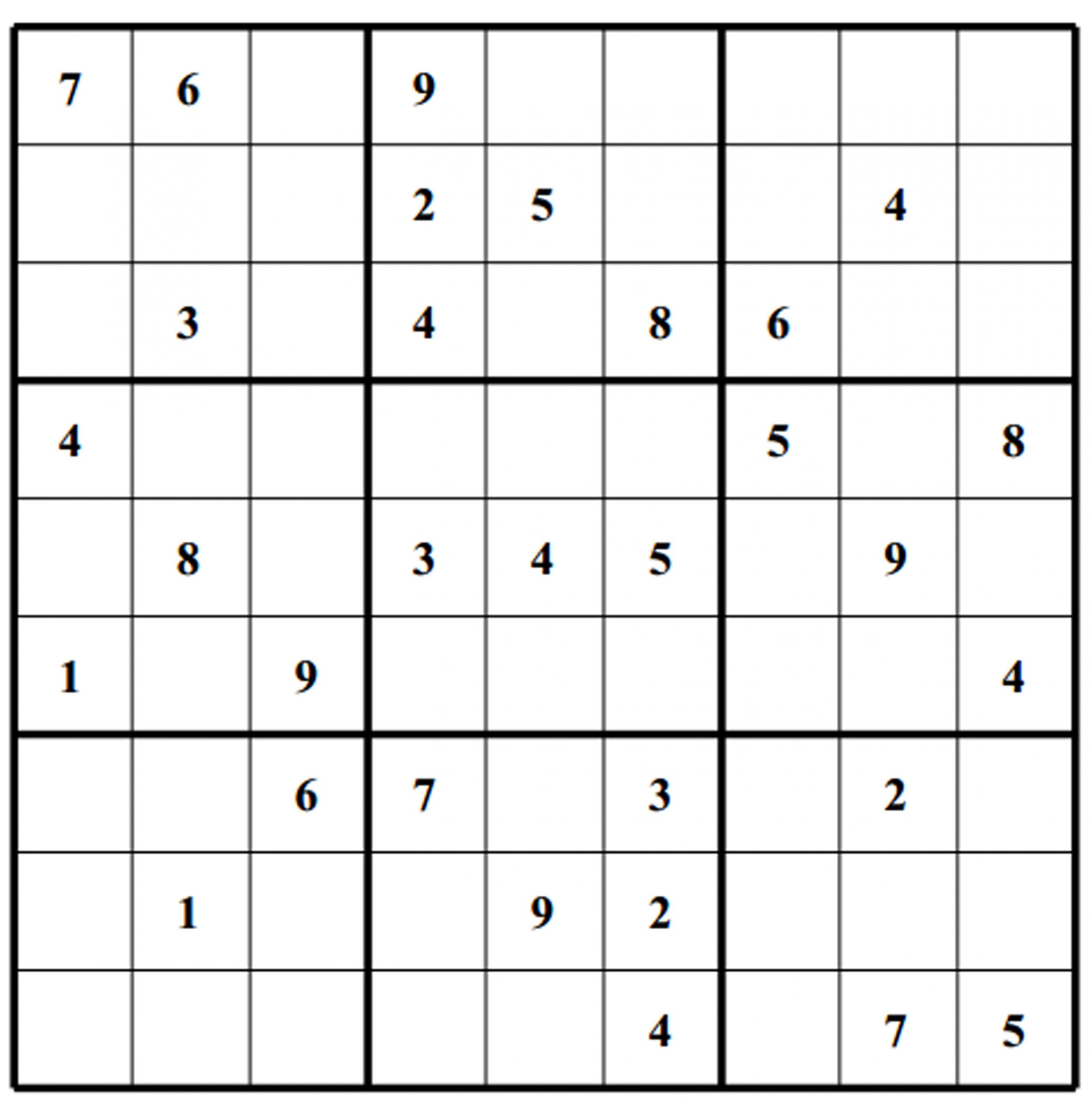 Free Sudoku Puzzles | Enjoy Daily Free Sudoku Puzzles From