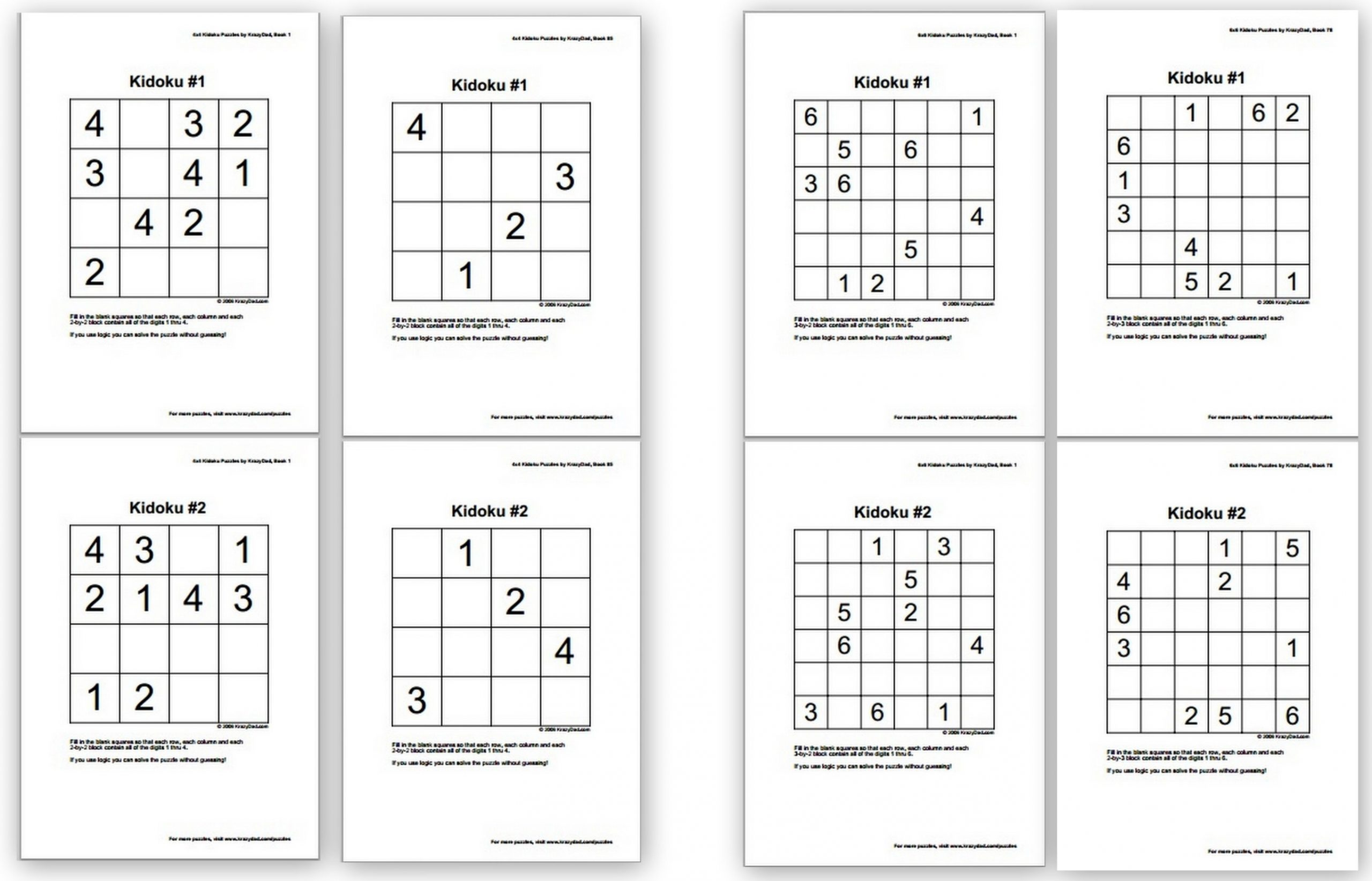 Free Sudoku Puzzles For Kids - Homeschool Denhomeschool Den