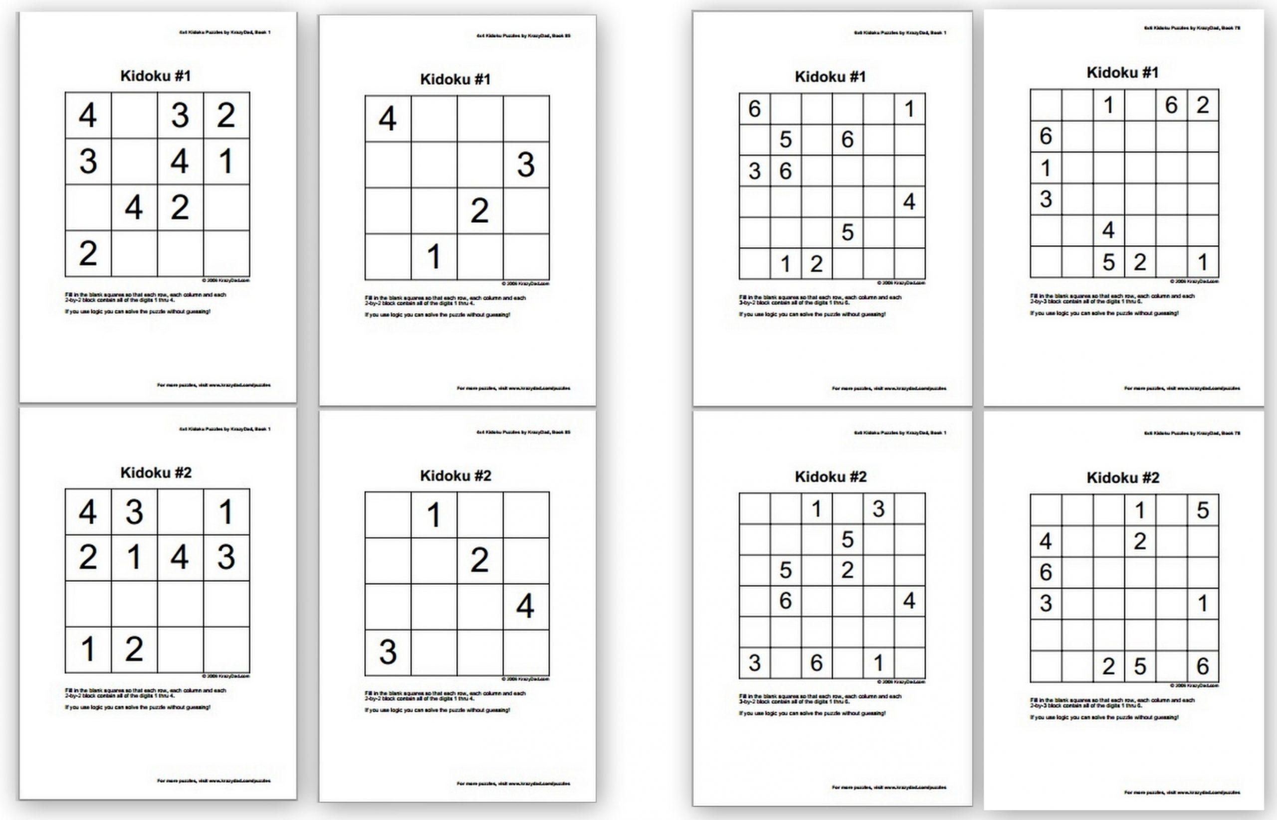 Free Sudoku Puzzles For Kids - Homeschool Denhomeschool Den