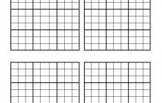 Printable Sudoku Blank 4