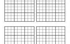 Printable Blank Sudoku Grids 2 Per Page