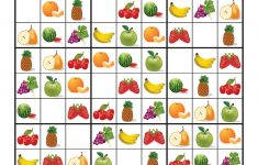 Kindergarten Sudoku Printable