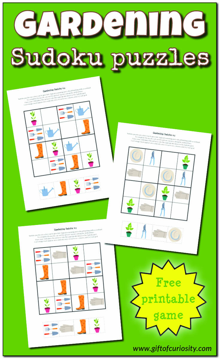 Gardening Sudoku {Free Printables} - Gift Of Curiosity