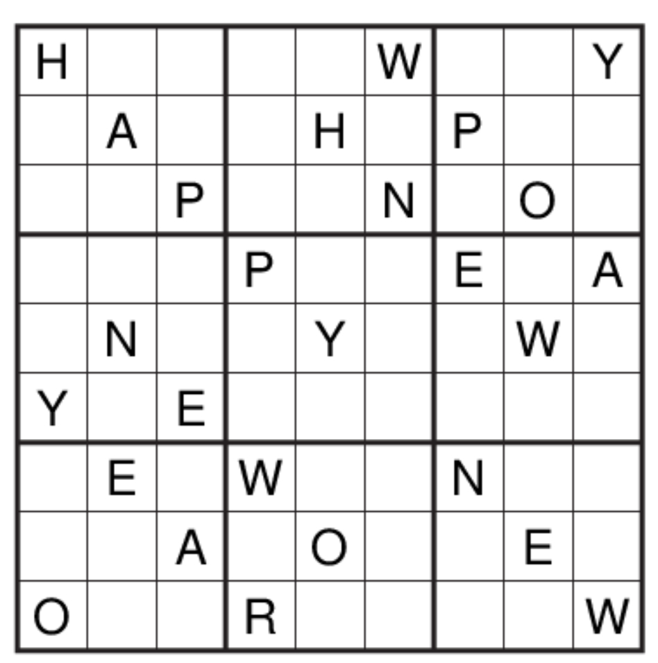 Get Set Go: Puzzle No 124: Alphabet Sudoku