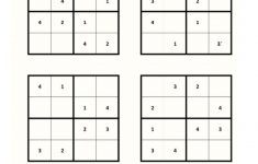 Mini Sudoku Printable