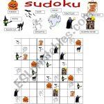 Halloween Sudoku   Esl Worksheetgreek Professor