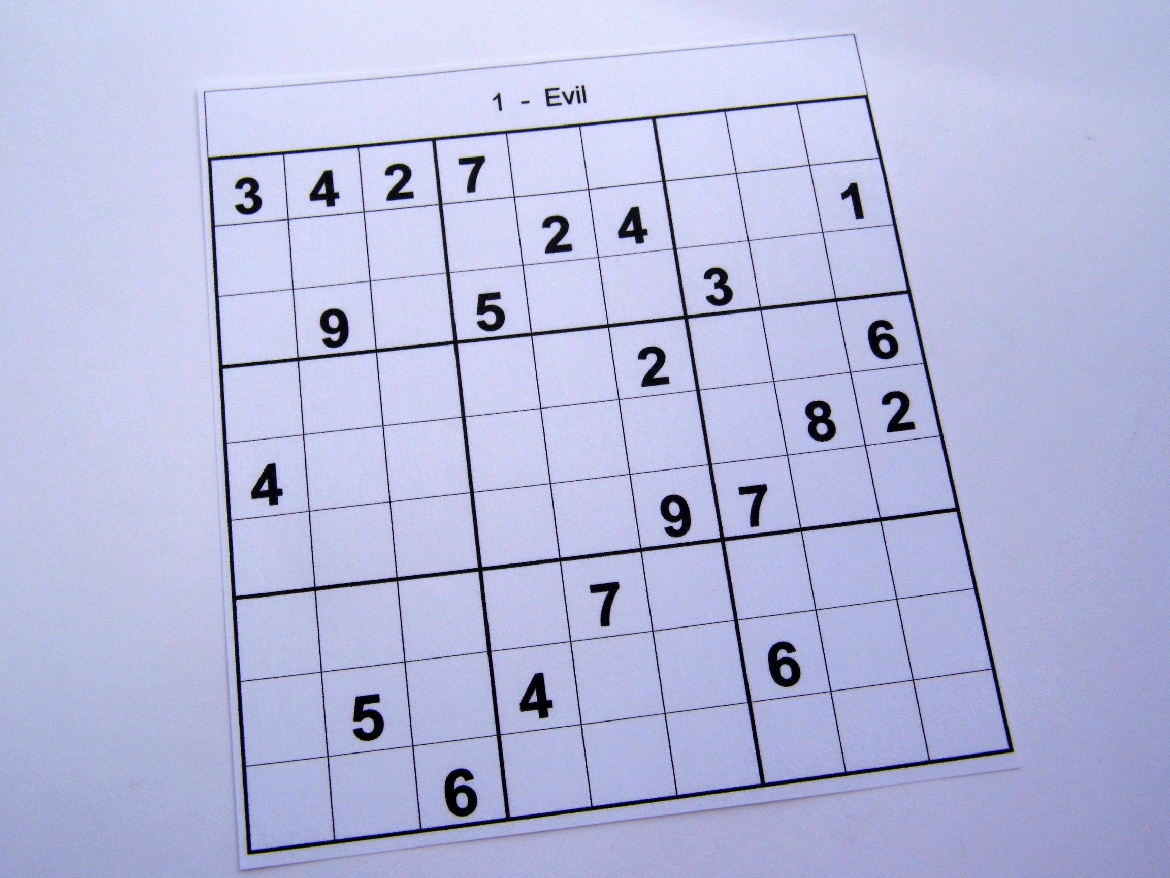 Hard Printable Sudoku Puzzles 2 Per Page – Book 1 – Free