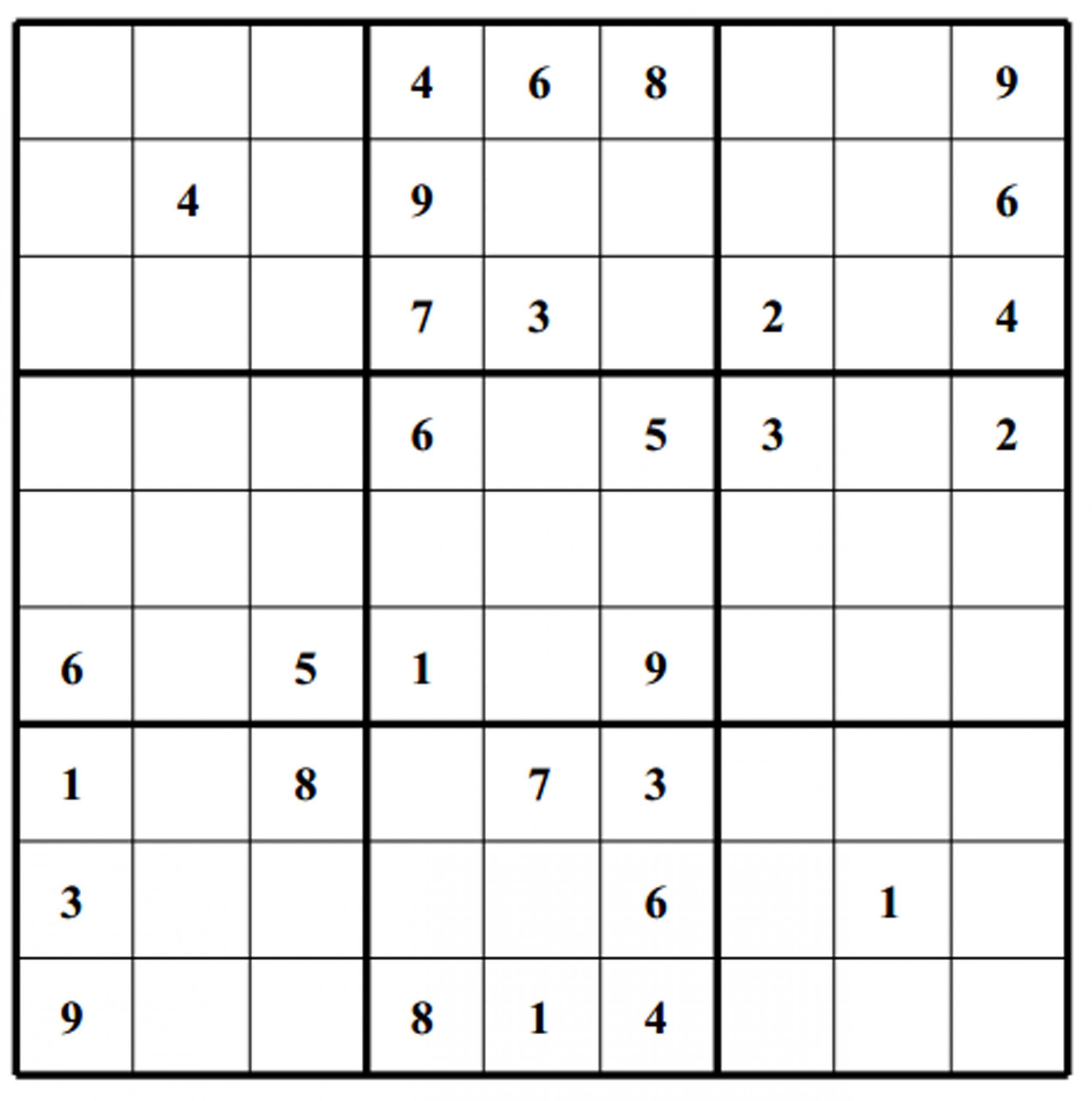 Hard Puzzle | Free Sudoku Puzzles