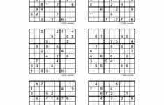 Free Printable Sudoku 6 Per Page