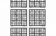 Free Sudoku Printables 4 Page