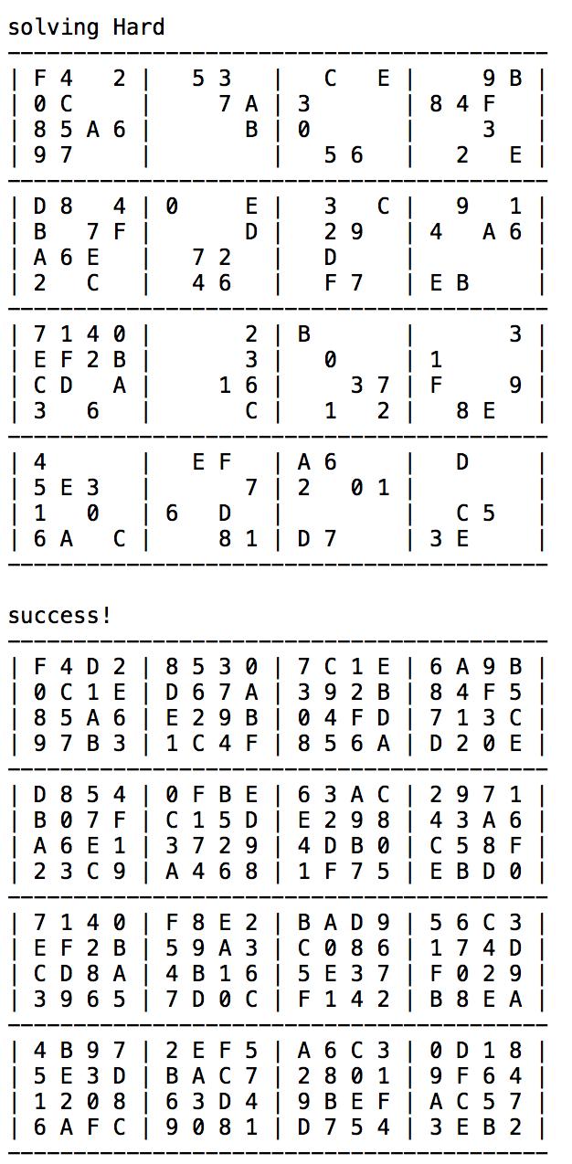 Hexadecimal Sudoku Solver | Simplicio Javellana-Samonte