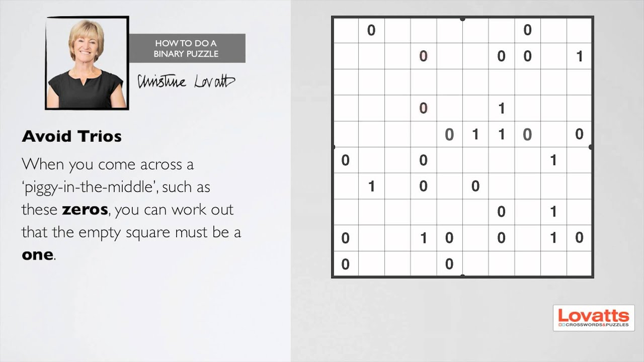 How To Do A Binary Puzzle | Logic Puzzles, Binary, Crossword