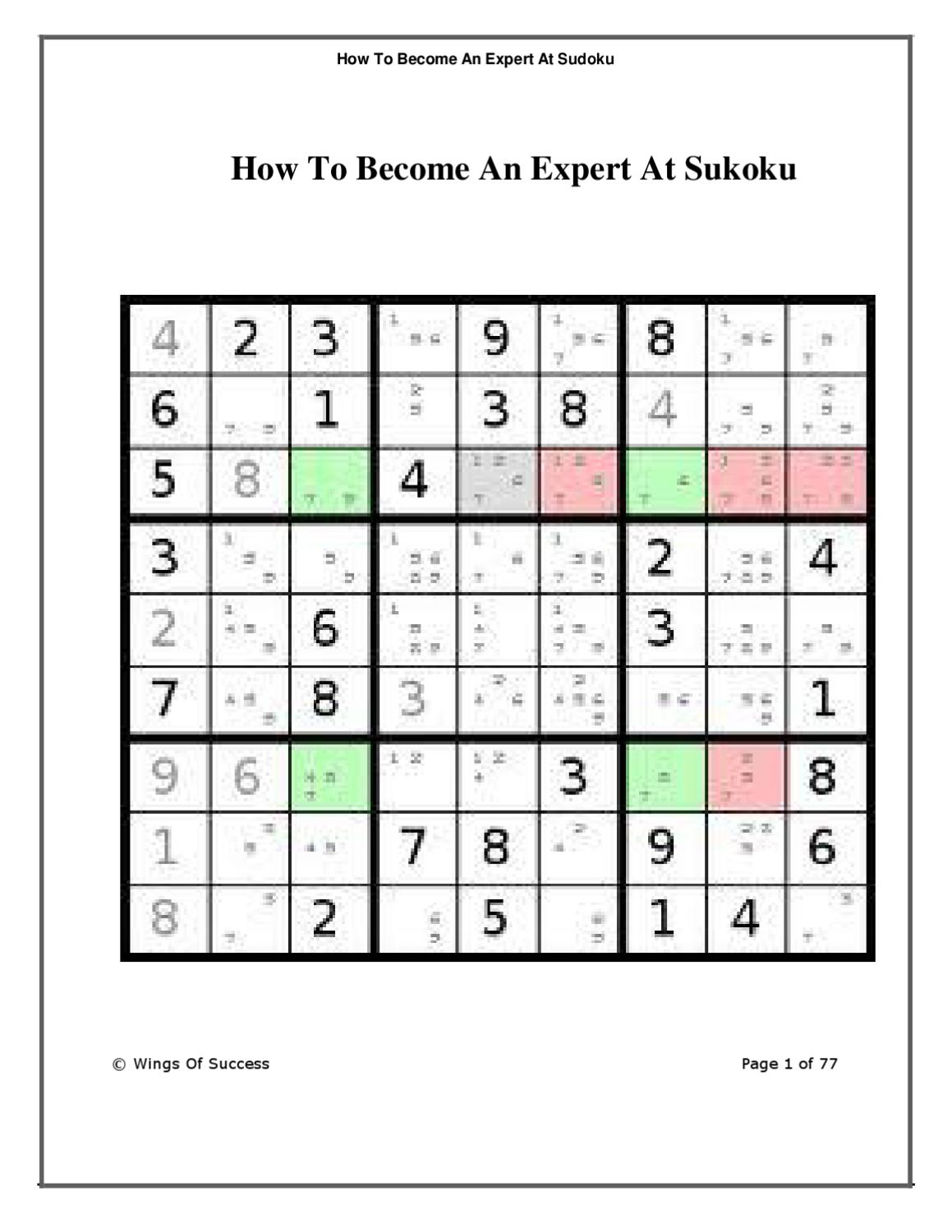 How To Win At Sudokubecky White - Issuu